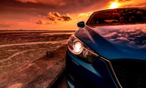 Beautiful Car in the sunset